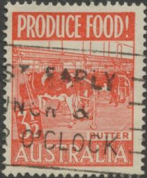 Australia SG 258 ACSC 290eb. Produce Food - 3½d Butter variety single